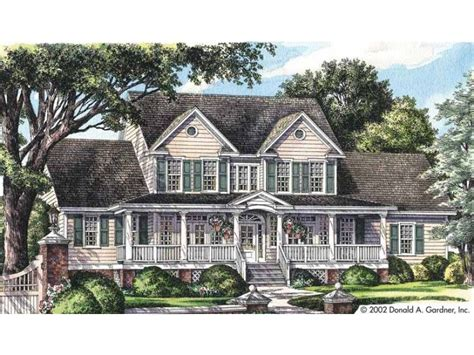 eplans farmhouse eplans farmhouse house plan spacious front and rear