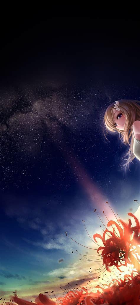 anime girl wallpaper space af50 anime girl in space sky wallpaper