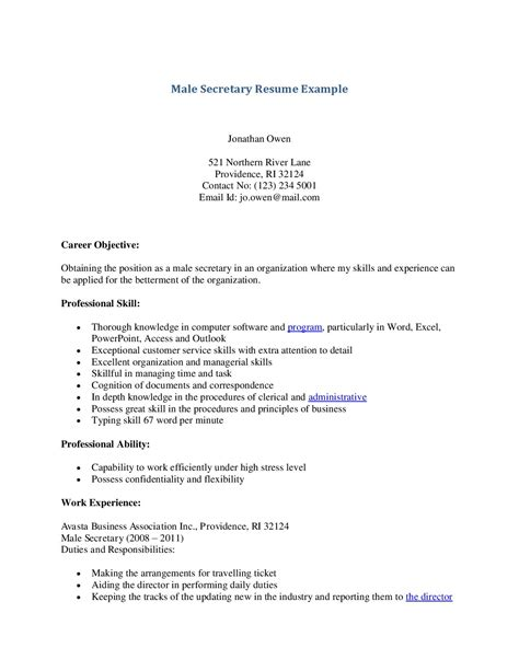 Resume Example: 48 Secretarial Resume Examples General