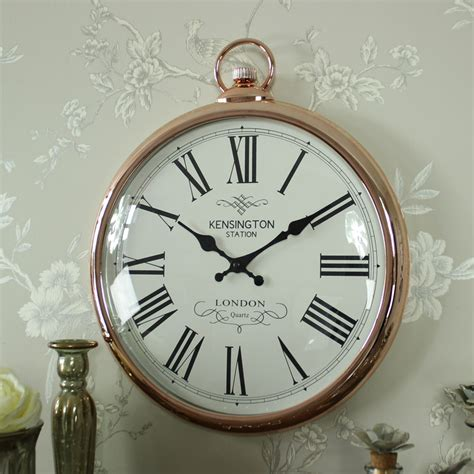 giant clocks large round copper wall clock melody maison 174