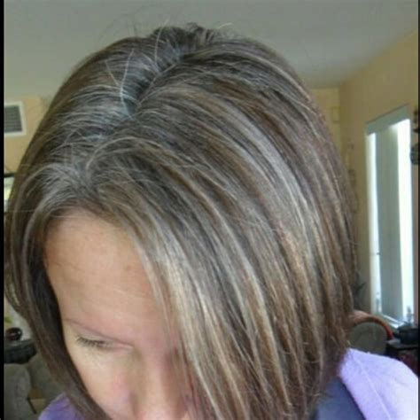 ash blonde to blend grey lowlights to blend gray hair lowlights to blend gray