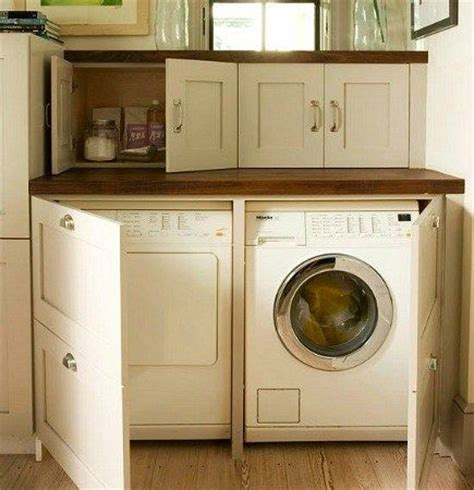 washer dryer cabinet enclosures 1000 ideas about laundry room countertop on