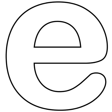 e template alphabet lower letter e clipart bbcpersian7 collections