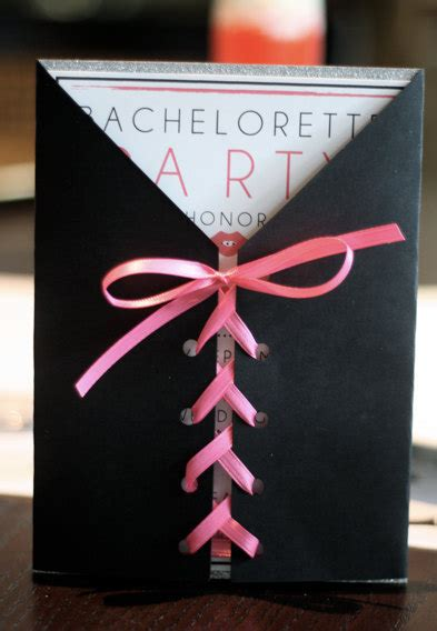 Handmade Bachelorette Invitations - custom corset bachelorette invitation by meghanhenrydesign