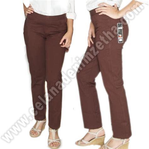 Celana Coklat Muda celana zetha katun warna coklat tua celana denim zetha