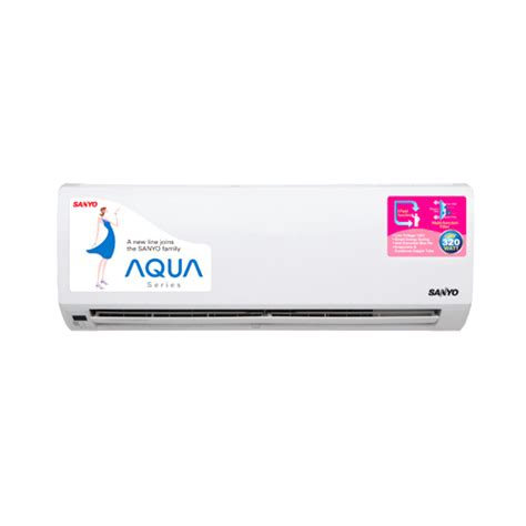Ac Sanyo Aqua Series 1 2 Pk air conditioner wall mounted split wahana superstore