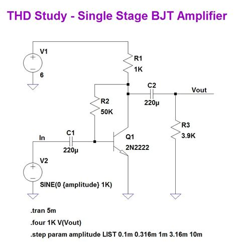 transistor lifier design calculator simple bjt stage page 1