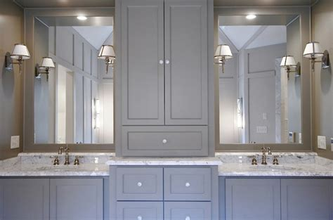 White Cabinets Gray Walls gray cabinets contemporary bathroom benjamin moore