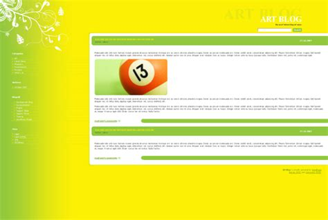 blogger themes yellow colors in wordpress themes