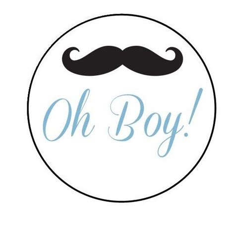 Baby Shower Mustache by 20 Baby Shower Mustache Stickers Labels Envelopes Or Favor Boxes Etc Ebay