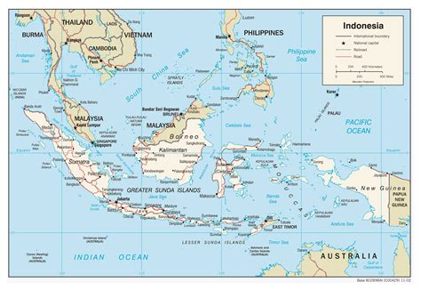 Indonesia On maps of indonesia detailed map of indonesia in