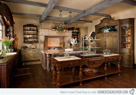Rustic Red Kitchen Cabinets 15 fabulous french country kitchen designs home design lover