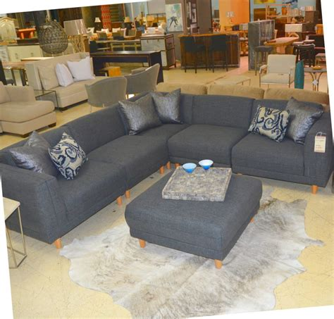 sectional couch with ottoman five piece grey sectional and ottoman horizon home furniture