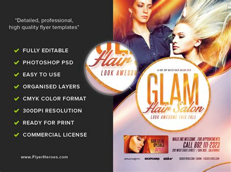 free salon flyer templates salon flyer template flyerheroes