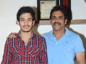 actor nagarjuna son akhil akkineni nagarjuna son akhil acting debut promote