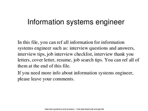 information systems engineer sample resume 4 example computer 3