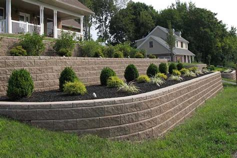 front garden retaining walls retaining wall tackles sloping front yard