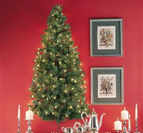 pre lit mounted foliage wall hanging christmas trees