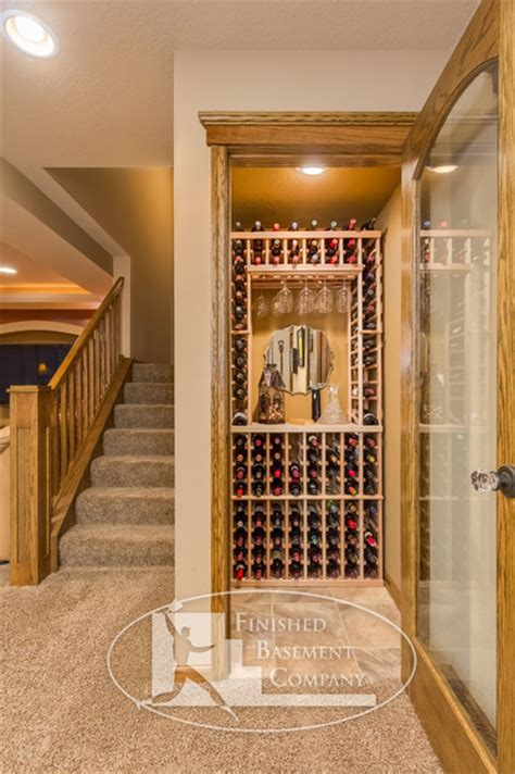 Wine Storage Closet by Basement Wine Storage Closet Traditional Basement