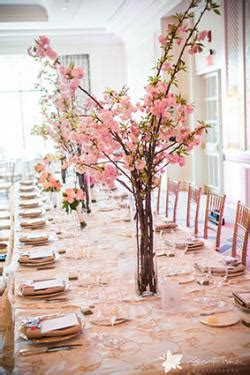 cherry blossom table decorations cherry blossom theme wedding ideas lovetoknow