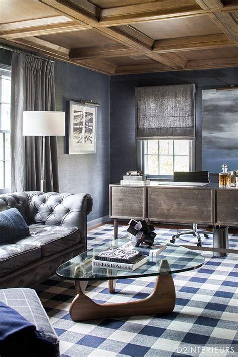 Masculine Sofas plaid carpet noguchi table chesterfield sofa masculine