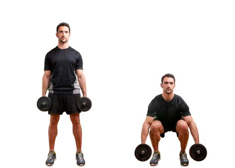 tips for performing dumbbell squats