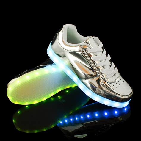 Shoes Black Led Small holographic light up shoes exclusive led hologram silver