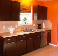 Chocolate Color Kitchen Cabinets by Orange Kitchen On Orange Kitchen Pyrex And