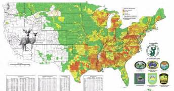 deer population map should i live in new hshire or pennsylvania pa