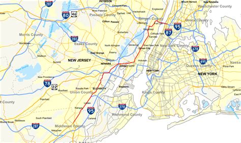 us highway one map u s route 1 9