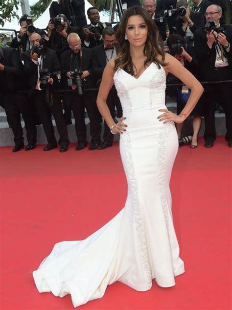 eva longoria cannes film festival 2014 eva longoria goes for white on the red carpet cannes