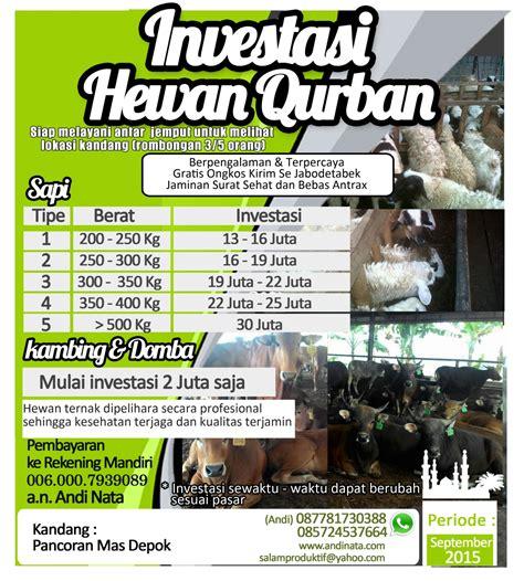 Promo Spesial 0006 Murah raja qurban promo hewan qurban 2015 free ongkos kirim