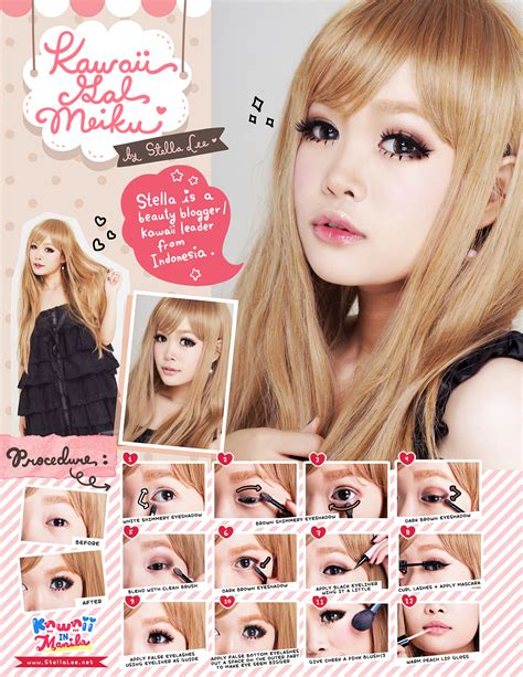 tutorial makeup kawaii japanese style make up and hair by stella lee marie