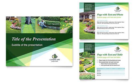 Landscaper Title Powerpoint Presentation Designs Business Presentation