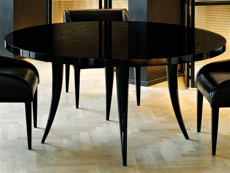 Black Wood Dining Tables Nella Vetrina Sabre Modern Italian Black Wood Dining Table