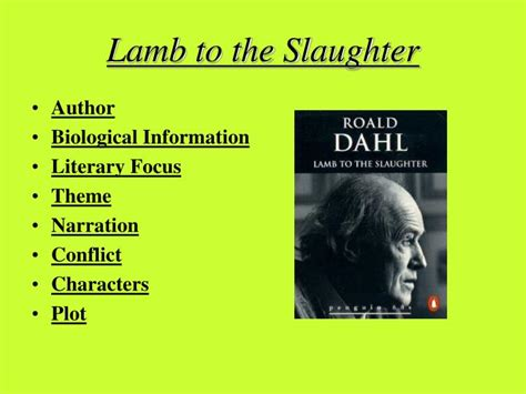 themes in the story lamb to the slaughter ppt lamb to the slaughter powerpoint presentation id