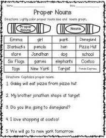 25 best ideas about proper nouns worksheet on pinterest