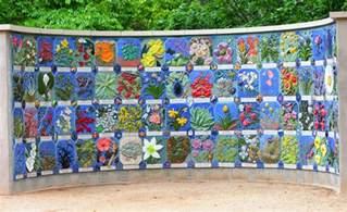 astonishing outdoor gallery designed using mosaic design ideas accented in colorful nuance