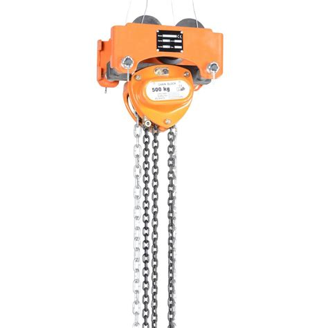 vestil 1 000 lbs capacity low headroom chain hoist