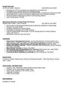 sample of warehouse supervisor resume resumes design