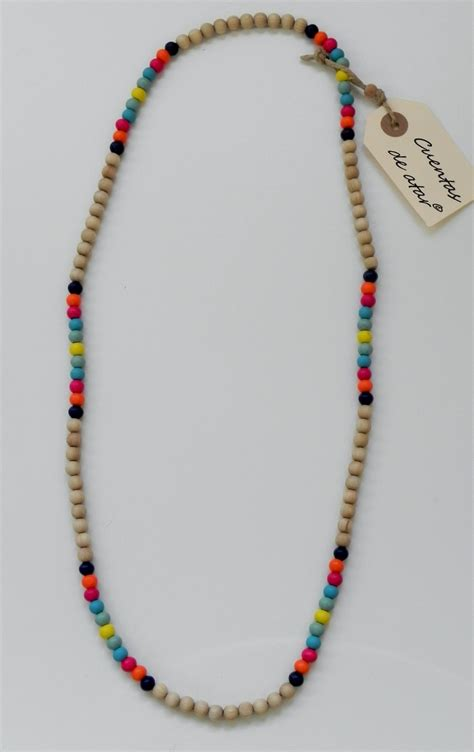 wooden bead crafts wooden necklace wooden bead craft