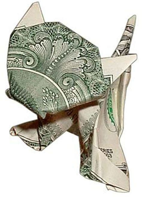 Dollar Origami Cat - folding money s cool avoid financial cat astrophe