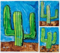 wild west art lessons pinterest cactus 2nd grade wild west unit perfect for my classroom