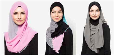 cara pakai tudung shawl 2016 trend tudung terkini indonesia fesyen tudung labuh