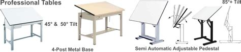 Professional Drafting Tables For Architects Engineers Standard Drafting Table Size