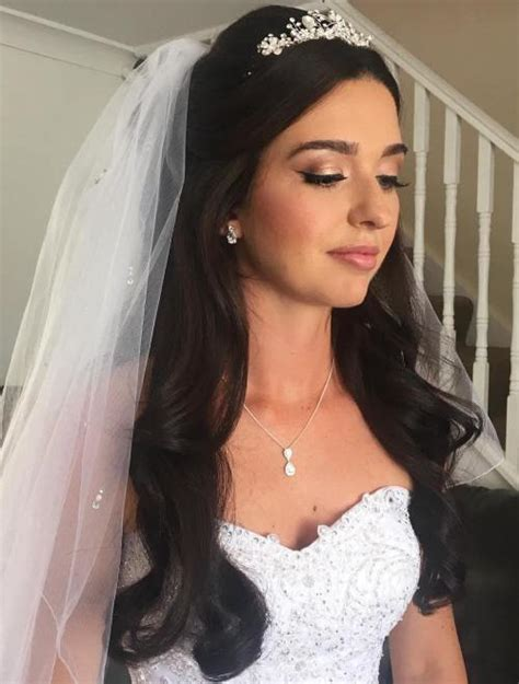 wedding hair ideas with veil and tiara half up half wedding hairstyles 50 stylish ideas