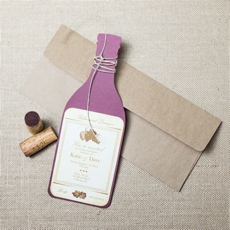 wedding invitation wine bottle labels wine rehearsal dinner invitations chic shab