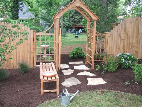 building an arbor trellis diy landscaping landscape design ideas plants lawn