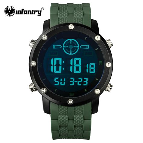 infantry mens watches led digital sports watches for