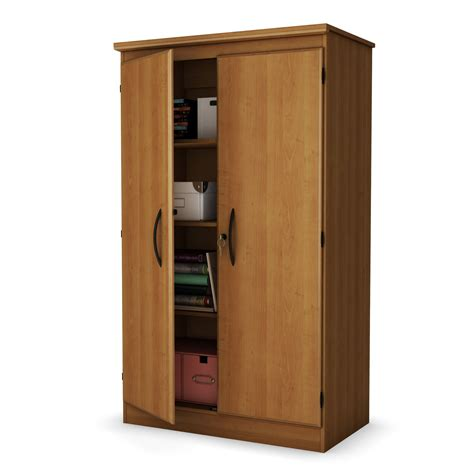cherry wood storage cabinets with shelves south shore morgan collection storage cabinet morgan